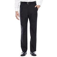 Steve Harvey® Black Herringbone Pleated Suit Pants