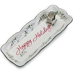 Pfaltzgraff® Winterberry Square Platter with Toothpick Holder