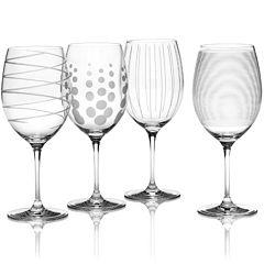 Mikasa® Cheers Set of 4 Red Wine Glasses