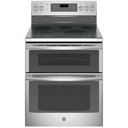 GE Profile™ 30 6.6 Cu. Ft. Double Oven Electric Range with Self Cleaning Convection Oven