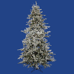 12' Pre-Lit Frosted Whistler Fir Artificial Christmas Tree - Clear Dura Lights