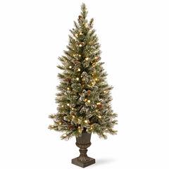 National Tree Co. 4 Foot Glittery Bristle Pine Entrance Pre-Lit Christmas Tree