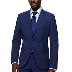 JF Stretch Texture Med Blue Jacket- Slim Fit