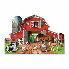 Melissa & Doug® Busy Barn Shaped Floor Puzzle (32pieces)
