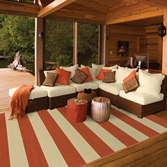 Covington Home Cabana Stripes Rectangular Rug