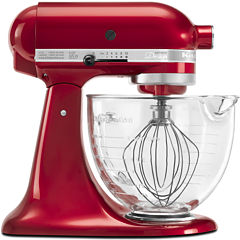 KitchenAid® Artisan® Design Series 5 Quart Tilt-Head Stand Mixer with Glass Bowl  KSM155GB