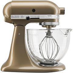 KitchenAid® Artisan® Design Series 5 Quart Tilt-Head Stand Mixer with Glass Bowl  KSM155GB