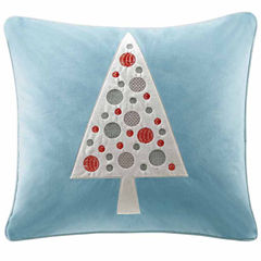 Madison Park Velvet Novelty Tree Square Throw Pillow