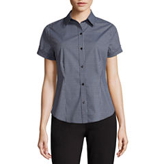 Liz Claiborne® Short-Sleeve Button-Front Shirt