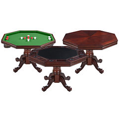 Hathaway Kingston Walnut 3-in1 Poker Table