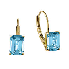 Genuine Blue Topaz 14K Yellow Gold Earrings