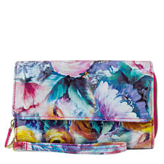 Mundi Big Fat Wristlet Midday Bloom RFID Blocking Checkbook Wallet