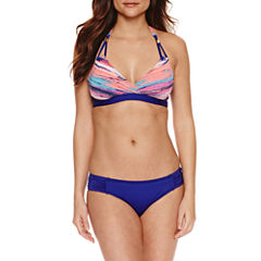 Liz Claiborne Stripe Halter Swimsuit Top