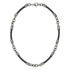 Edward Mirell Mens 20 Inch Titanium Link Necklace