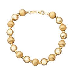 Limited Quantities! Womens 14K Gold Beaded Bracelet