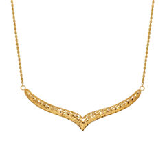 Limited Quantities 14K V Shaped Bar Necklace