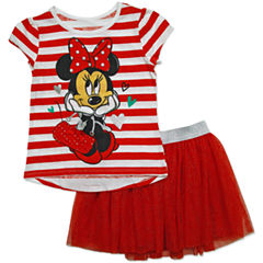 Disney by Okie Dokie 2-pc. Minnie Mouse Skirt Set Toddler Girls