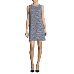 Worthington Sleeveless Grid Shift Dress