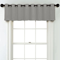JCPenney Home Matte Satin Grommet Unlined Tailored Valance