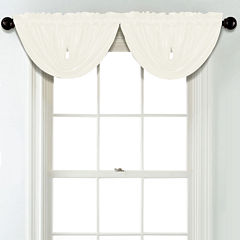 JCPenney Home Matte Satin Rod Pocket Blackout Lined Waterfall Valance