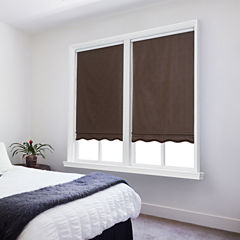 JCPenney Home Chelsea Cut-To-Width Fringed Cordless Blackout Roller Shade