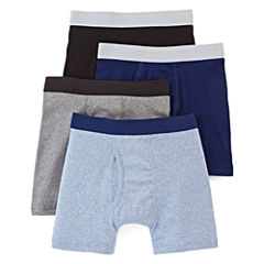 Arizona 4-pk. Boxer Briefs – Boys & Husky 4-20