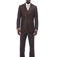 Steve Harvey® Brown Shantung Suit Separates