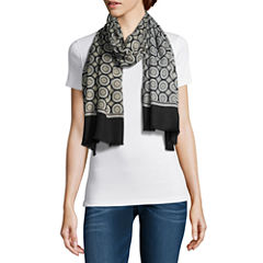V. Fraas Oblong Geometric Scarf