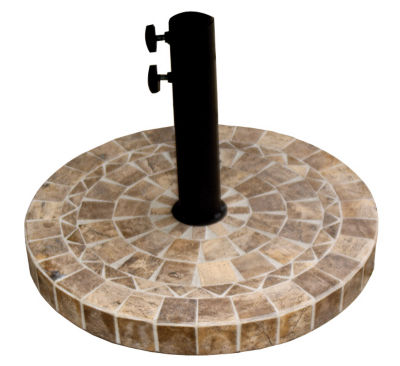 outdoor interiors 20 in round brown marble umbrella base