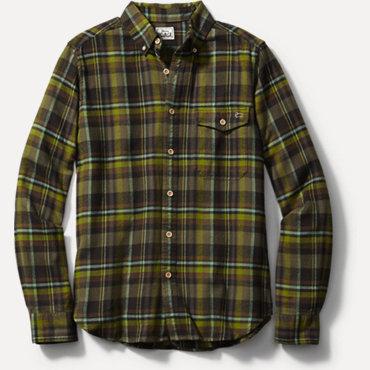 Woolrich Rich Flannel Yarn Dye Shirt - Winter Moss