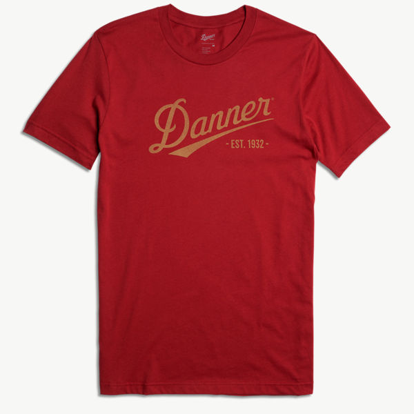 Danner Distressed Logo SS Tee - Cardinal Red
