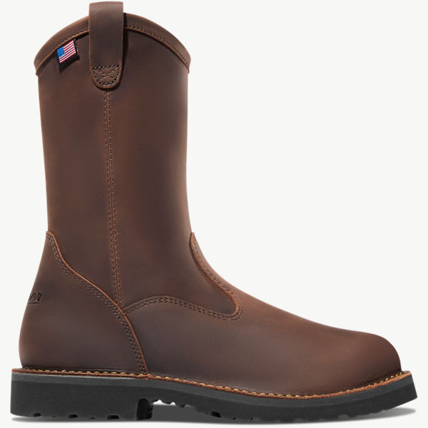 "Bull Run Wellington 11"" Brown Round Toe ST"