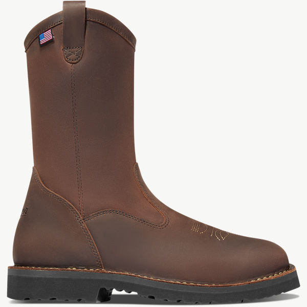 "Bull Run Wellington 11"" Brown Square Toe"