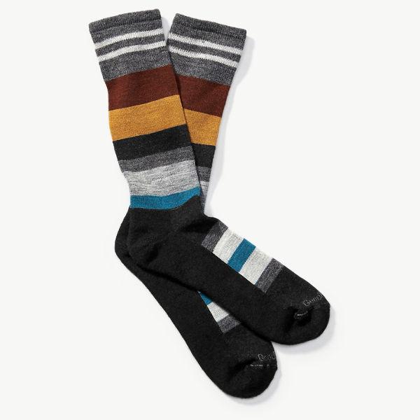 Goodhew Men's Stand Up Stripe Sock - Black