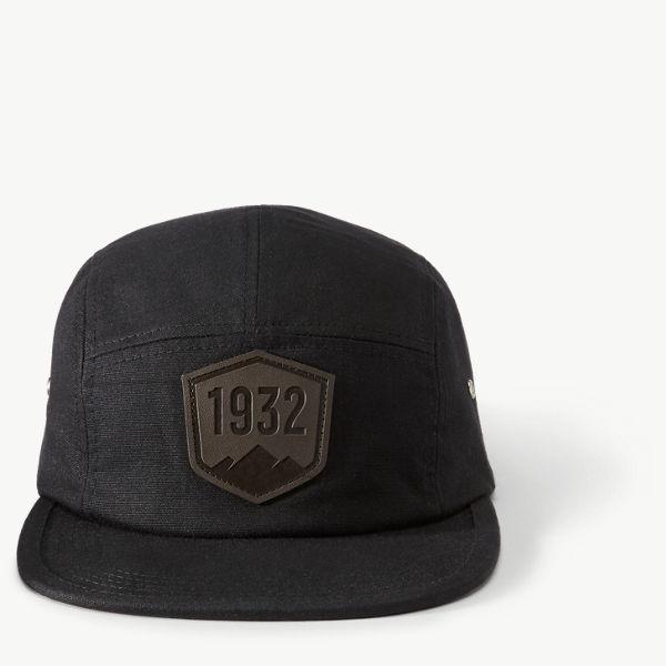 Danner Five Panel Flat Cap - Black