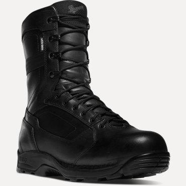 """Striker Torrent Side-Zip 8"""" Black Leather"""