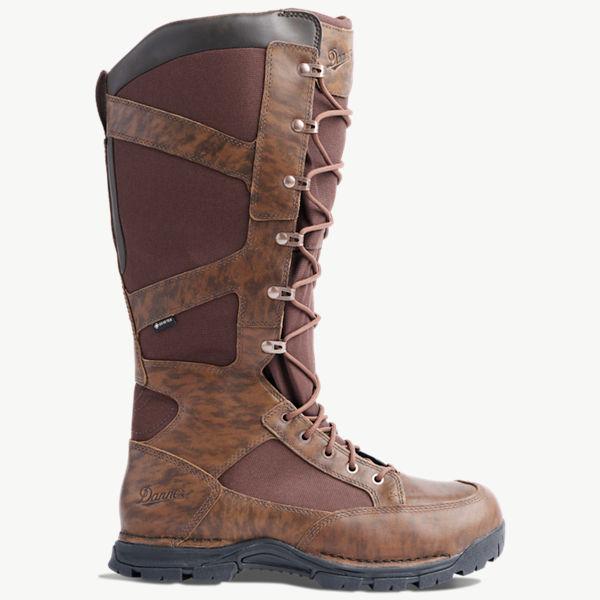 "Pronghorn Snake Boot Side-Zip 17"" Brown"
