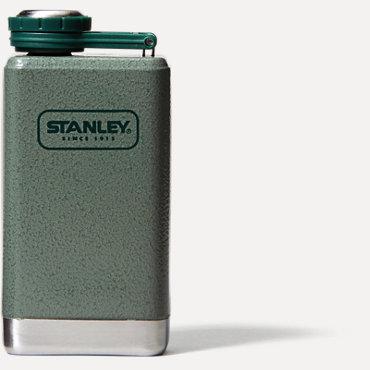Stanley Adventure SS Flask 5oz - Hammered Green