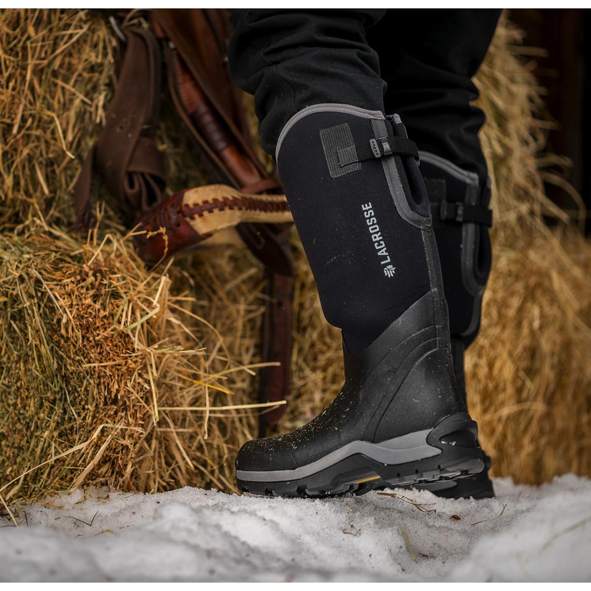 "Lacrosse Men/'s 644101 Alpha Thermal 16/"" Black 7.0MM Winter Snow Work Shoes Boots"