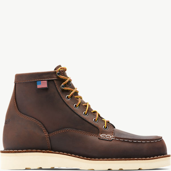 "Bull Run Moc Toe 6"" Brown ST"