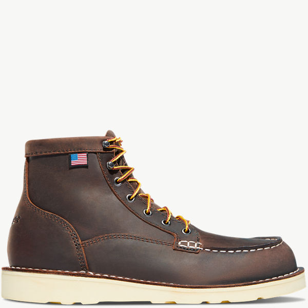 "Women's Bull Run Moc Toe 6"" Brown ST"