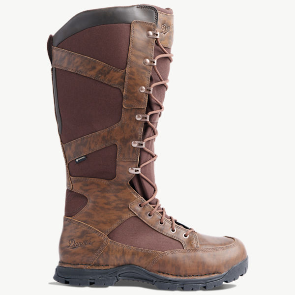 "Pronghorn Snake Boot Side-Zip 17"" Brown"