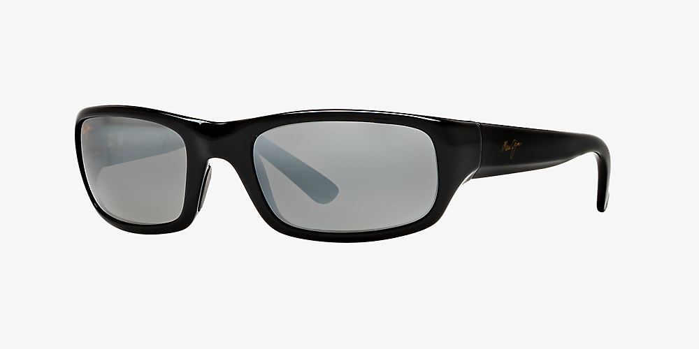 f1c7063ba763 Maui Jim STINGRAY 56 Grey-Black & Black Shiny Polarized Sunglasses ...