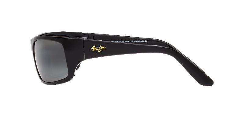 82bd820f14cff Maui Jim MJ000321 65 Grey-Black   Black Shiny Polarized Sunglasses ...