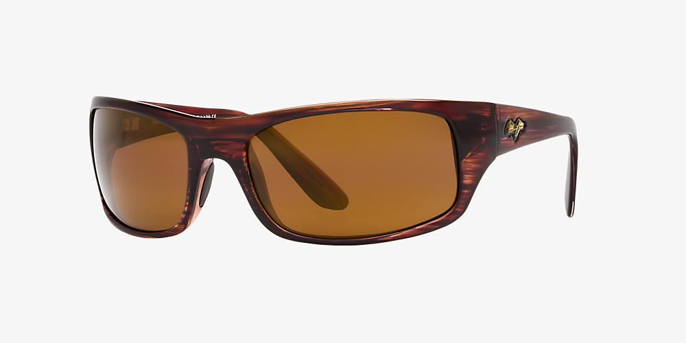 7185920f458c Maui Jim PEAHI 65 Brown & Brown Polarized Sunglasses | Sunglass Hut USA