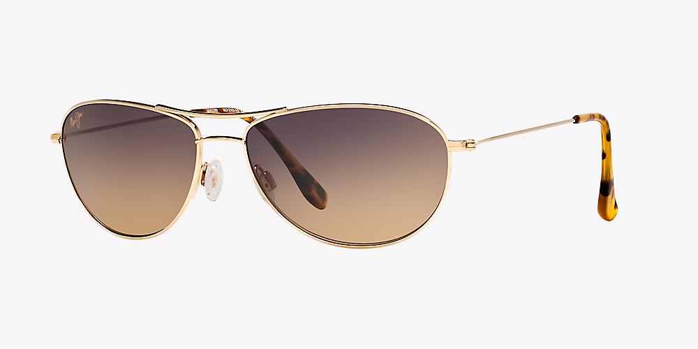 aceb1061b050 Maui Jim BABY BEACH 56 Copper & Gold Shiny Polarized Sunglasses ...