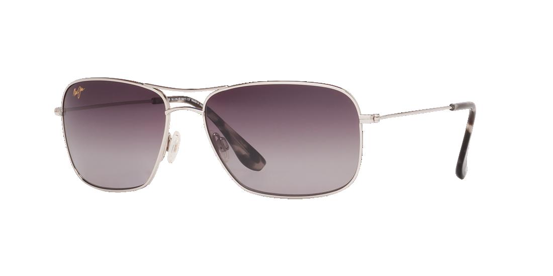 35833ccb4f3 Maui Jim MJ000363 Grey-Black   Silver Polarized Sunglasses ...