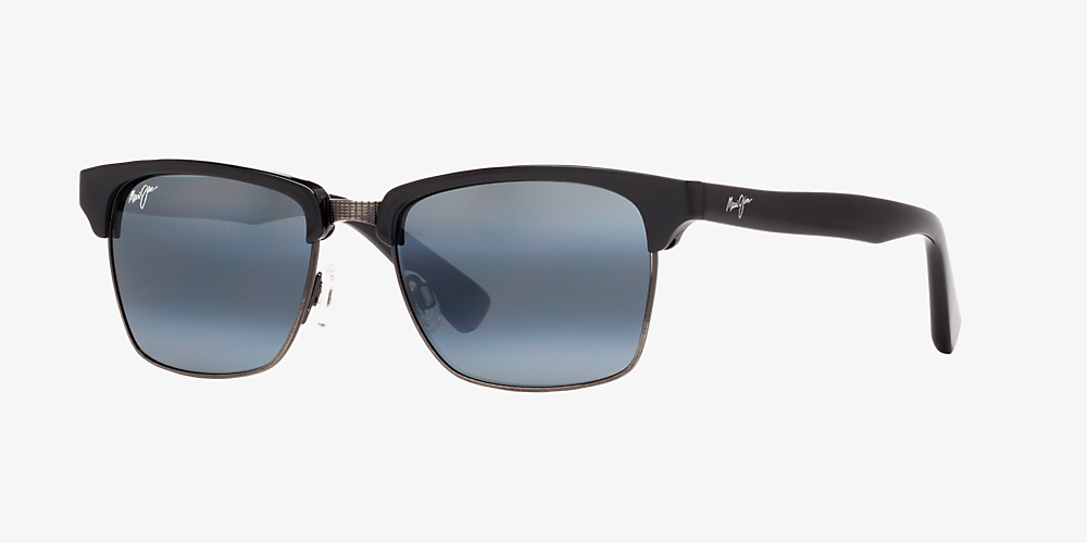 a37ff1f09f7 Maui Jim KAWIKA 54 Grey-Black & Black Shiny Polarized Sunglasses ...