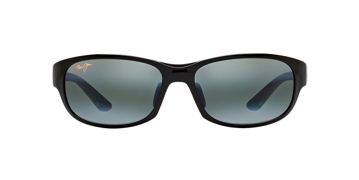 21573bf6fbde Maui Jim 417 TWIN FALLS 63 Grey-Black   Polarized Sunglasses ...