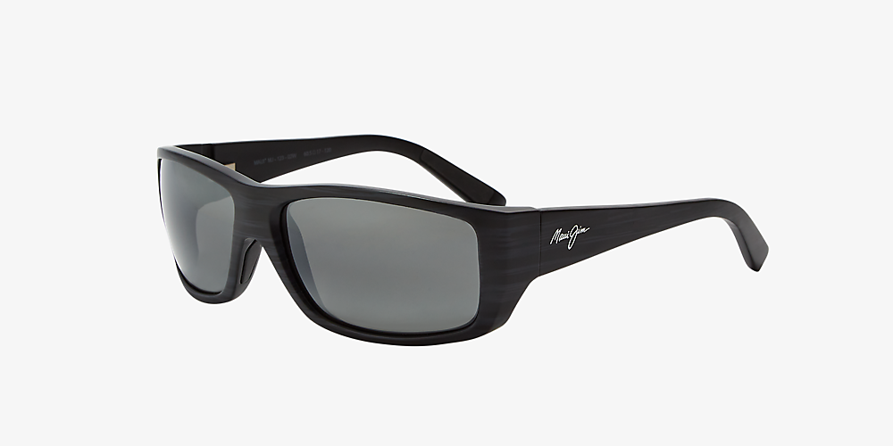 c8aed374c674 Maui Jim 123 WASSUP 61 Grey-Black & Black Polarized Sunglasses ...